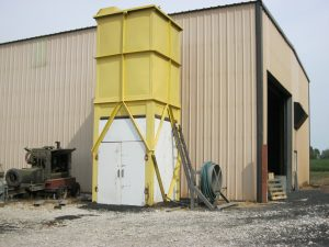 Sand blasting & steel painting equipment used by Jameson Steel